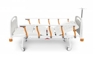 TWO MOTORIZED ELECTRONIC BED WITH FOLDABLE LEGS & SIDE RAILS