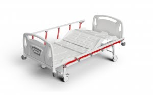 3 ADJUSTMENTS MANUAL BED WITH FOLDABLE LEGS AND ABS SURFACE