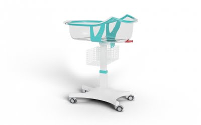 BABY BASSINET WITH STABLE HEIGHT AND BASKET WITH ANTI-TRENDELENBURG