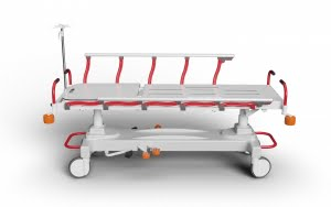 EMERGENCY STRETCHER WITH HYDRAULIC HEIGHT ADJUSTMENT