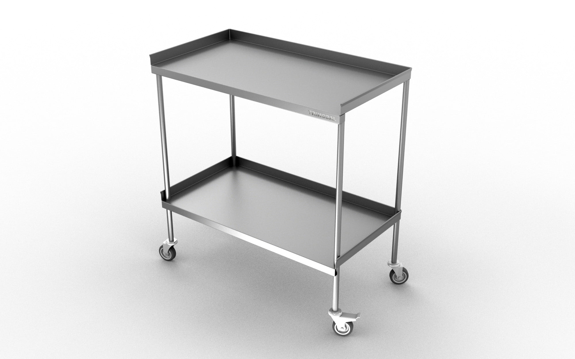 DSS 1020STAINLESS STEEL TWO SHELVES DELIVERY TROLLEY – Trinodal