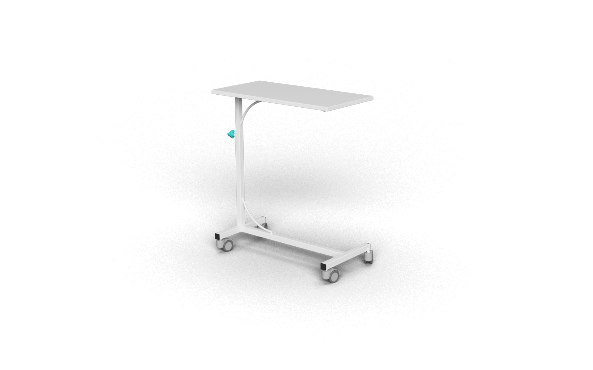BASIC MODEL MDF OVERBED TABLE WITH MANUAL HEIGHT ADJUSTMENT